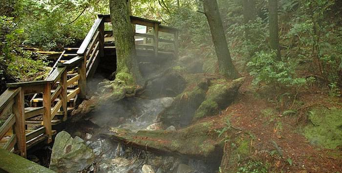 Hot Springs Off Vancouver Island